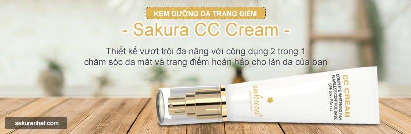 [Banner Danh Mục] Kem trang điểm dưỡng da Sakura CC Cream