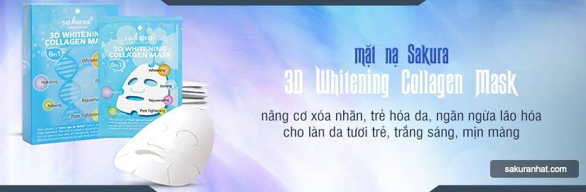 [Banner Danh Mục] Mặt nạ Collagen làm trắng da Sakura 3D