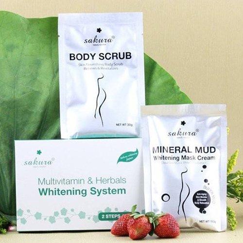 Bộ kem tắm trắng Sakura Multivitamin & Herbals Whitening System 03
