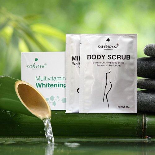 Bộ kem tắm trắng Sakura Multivitamin & Herbals Whitening System 04
