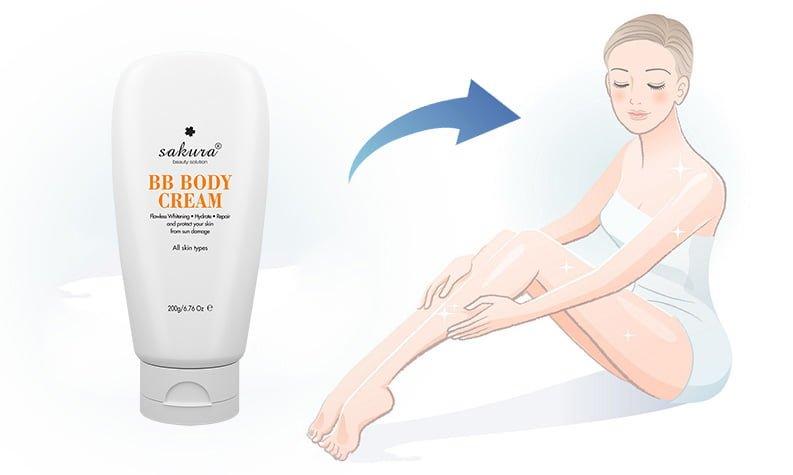 Kem dưỡng trắng da trang điểm toàn thân Sakura BB Body Cream 22