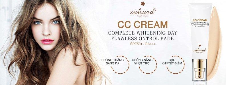 Kem trang điểm dưỡng da Sakura CC Cream 1