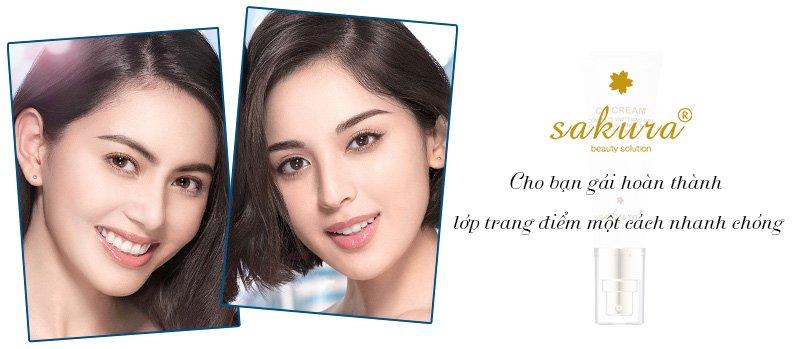 Kem trang điểm dưỡng da Sakura CC Cream 2