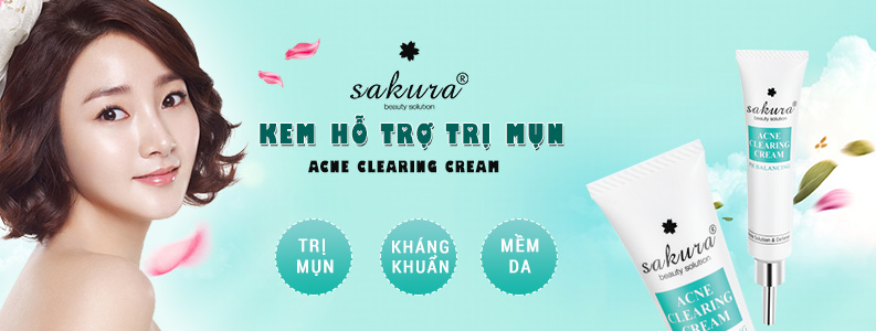 Kem trị mụn Sakura Acne Clearing Cream 1