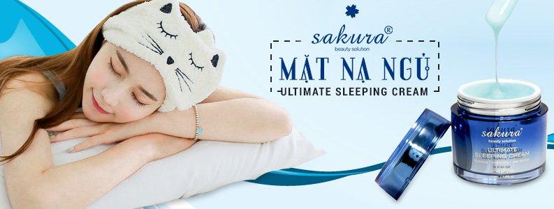 Mặt nạ ngủ Sakura Ultimate Sleeping Cream 1
