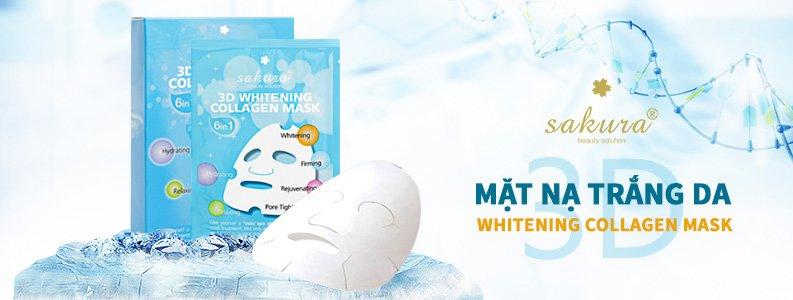 Mặt nạ trắng da Collagen Sakura 3D Whitening Collagen Mask 2