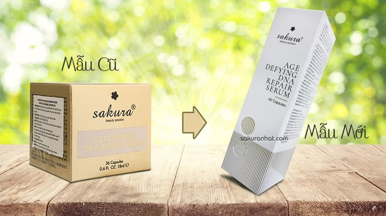 Mẫu cũ mẫu mới Sakura Age Defying DNA Repair Serum
