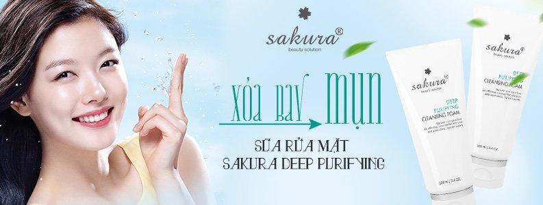 Sữa rửa mặt dành cho da mụn Sakura Deep Purifying 1