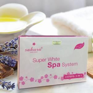 Bộ kem tắm trắng chuẩn spa Sakura Super White Spa System 02