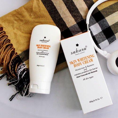 Kem dưỡng trắng da toàn thân Sakura Skin Whitening Body Cream 03