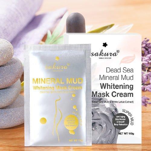 Kem tắm trắng bùn biển Sakura Dead Sea Mineral Mud 03