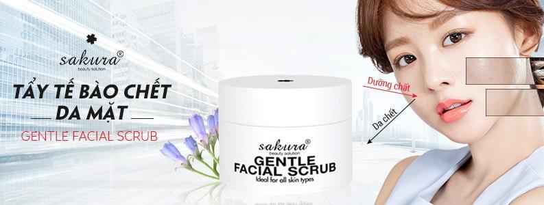 Kem tẩy tế bào chết da mặt Sakura Gentle Facial Scrub 1