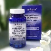Viên uống làm trắng da Sakura White Advance L-Glutathione Complex 1600mg 04