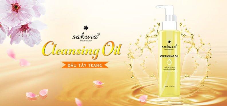 Dầu tẩy trang Sakura Cleansing Oil 1