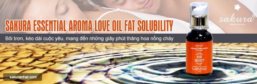 [Banner Danh Mục] Tinh dầu tăng khoái cảm Sakura Essential Aroma Love Oil