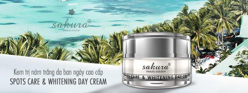 Kem trị nám trắng da cao cấp ban ngày Sakura Spots Care & Whitening Day Cream