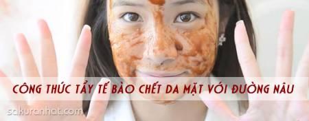 Công thức tẩy tế bào chết da mặt với đường nâu