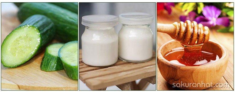 DIY: Dưa leo, mật ong và sữa chua làm mới làn da 1