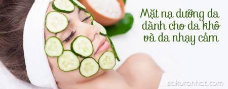 Mặt nạ dưỡng da dành cho da khô và da nhạy cảm