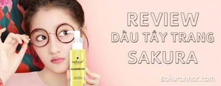 Review sản phẩm dầu tẩy trang Sakura Skin Oil 1