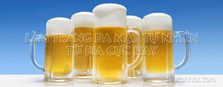 Làm trắng da mặt tự nhiên từ bia