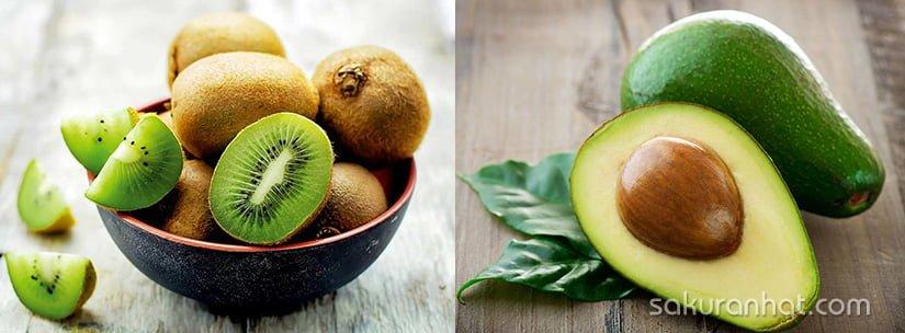 Đắp mặt nạ coallgen tự nhiên bằng kiwi và bơ