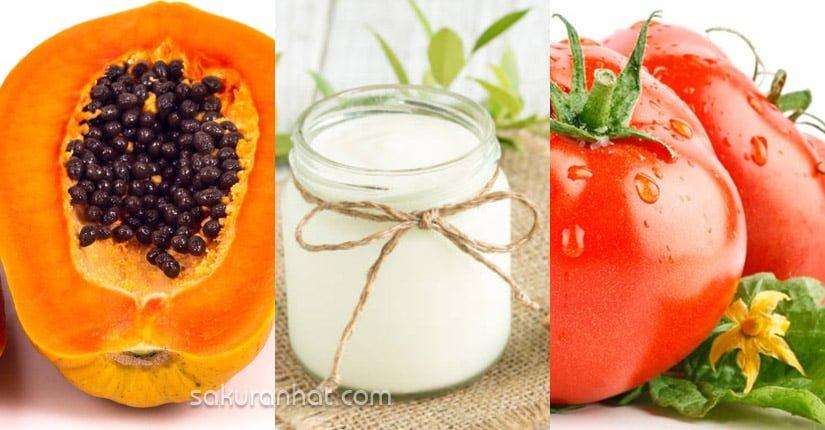 2. Sinh tố đu đủ, sữa chua, cà chua