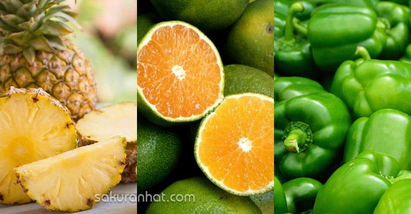 4. Sinh tố dứa, cam, ớt xanh