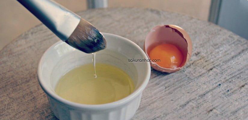 #4. Mặt nạ lòng trắng trứng gà dưỡng trắng da từ bên trong