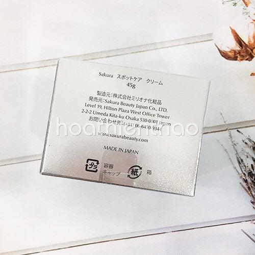 Kem dưỡng trắng da mặt ngừa nám Sakura 2