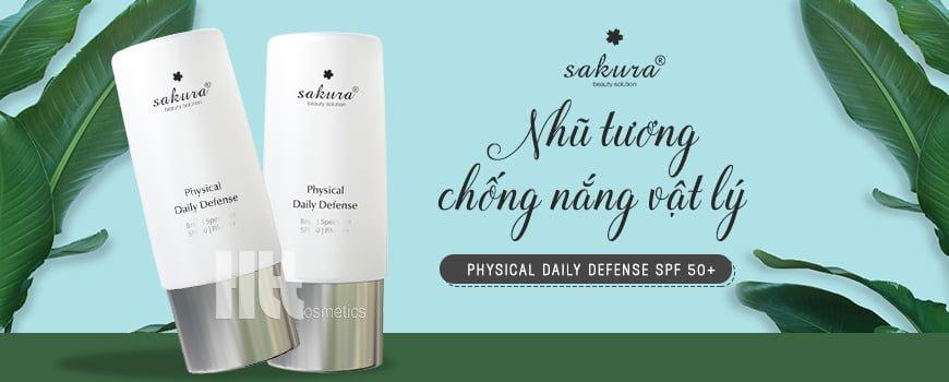 Nhũ tương chống nắng vật lý Sakura Physical Daily Defense SPF 50+