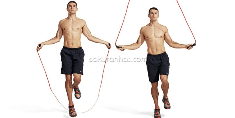 Giảm cân bằng nhảy dây trong 1 tuần - Ngày thứ 5 và 6